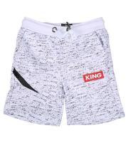 Bottoms - King Streak Print Fleece Shorts (4-7)-2638564