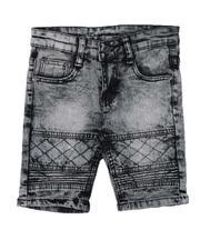 Phat Farm - Washed Stretch Moto Denim Shorts (4-7)-2638574