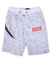 Arcade Styles - King Streak Print Fleece Shorts (8-18)-2638579