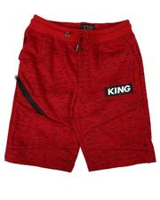 Arcade Styles - King Streak Print Fleece Shorts (8-18)-2638584