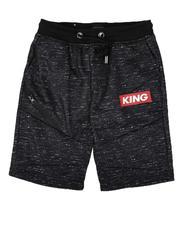 Arcade Styles - King Streak Print Fleece Shorts (8-18)-2638589