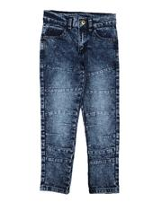 Boys - Washed Moto Jeans (4-7)-2638624