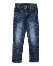 Bottoms - Washed Moto Jeans (4-7)-2638657