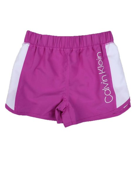Calvin Klein - Color Block Tulip Sport Shorts (7-14)