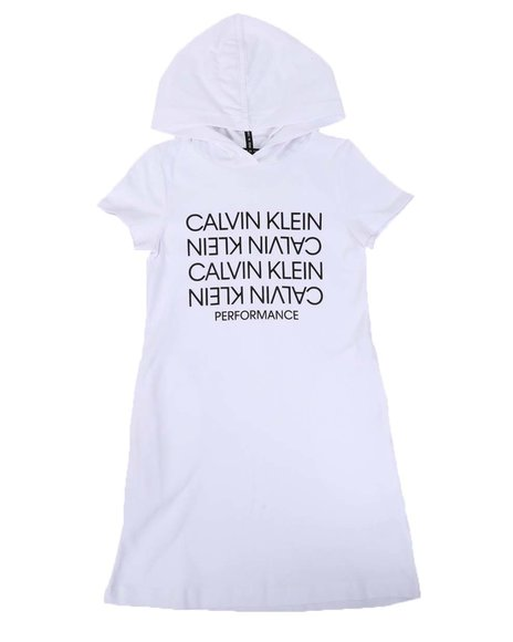 Calvin Klein - Topsy Logo Hoodie Dress (7-14)