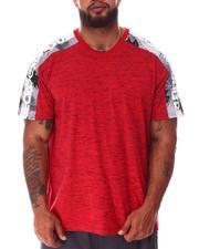 Big & Tall - Tap My Sleeve V-Neck T-Shirt (B&T)-2640311