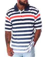 Big & Tall - Striped Polo Shirt (B&T)-2640492