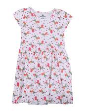 Sizes 7-20 - Big Kids - Unicorn Print Cap Sleeve Dress (7-16)-2638919