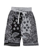 Arcade Styles - Bandana Print Fleece Shorts (8-20)-2639056
