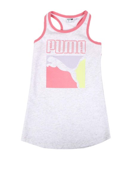 Puma - Stay Bold Pack French Terry Racerback Dress (4-6X)