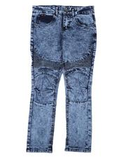 Jeans - Washed Stretch Moto Jeans (8-18)-2639127