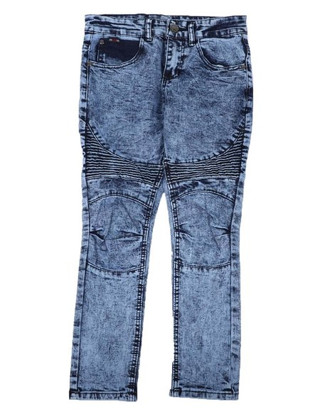 Arcade Styles - Washed Stretch Moto Jeans (8-18)