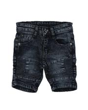 Sizes 2T-4T - Toddler - Washed Stretch Moto Denim Shorts (2T-4T)-2639148