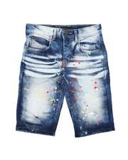 Arcade Styles - Distressed Baked Denim Shorts (8-18)-2639829
