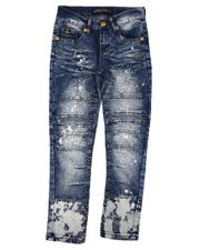 Jeans - Bleached Moto Jeans (8-18)-2639327