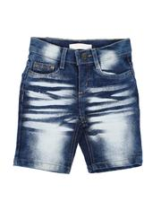 Sizes 2T-4T - Toddler - Distressed Baked Denim Shorts (2T-4T)-2639419