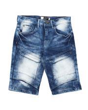 Arcade Styles - Cargo Flap Denim Shorts (8-18)-2639540