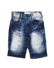 Arcade Styles - Cut & Sew Flap Denim Shorts (4-7)-2639692