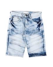 Arcade Styles - Cut & Sew Flap Denim Shorts (8-18)-2639708