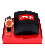 Accessories - 3 Pc Watch/Savage Cap & 8MM Studs Set-2641106
