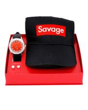 Accessories - 3 Pc Watch/Savage Cap & 8MM Studs Set-2641111