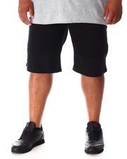 Big & Tall - Stretch Twill Moto Shorts (B&T)-2637929