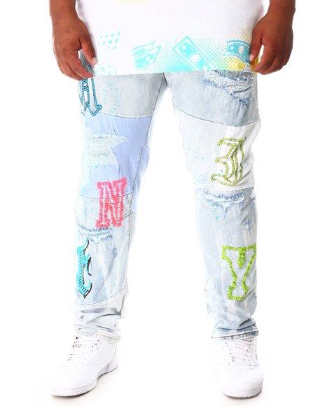 SMOKE RISE - Cut & Sew Denim Jeans (B&T)