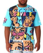 Shirts - Faded Comic Pop Art T-Shirt (B&T)-2639857