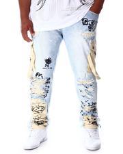 Jeans - Cargo Pocket Denim Jeans (B&T)-2639701