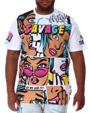 Shirts - Faded Comic Pop Art T-Shirt (B&T)-2639869