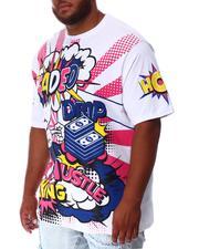 Shirts - Faded Wow Comic Pop Art T-Shirt (B&T)-2639930