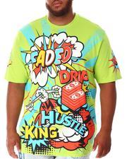 Shirts - Faded Wow Comic Pop Art T-Shirt (B&T)-2639934