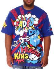 Shirts - Faded Wow Comic Pop Art T-Shirt (B&T)-2639938