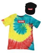 Arcade Styles - 2 Pc Hype Tie Dye T-Shirt & Snapback Hat Set (8-18)-2638671