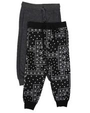 Arcade Styles - 2 Pack Printed & Solid Jogger Pants (4-7)-2638698