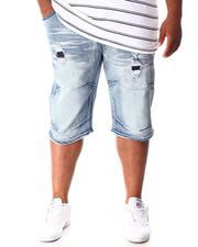 Shorts - Rip & Repair Distressed Denim Shorts (B&T)-2641009