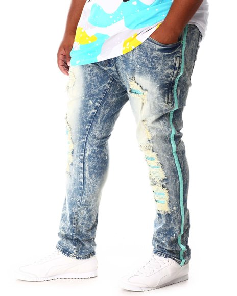 Makobi - Shredded Jeans with Side Stripe (B&T)