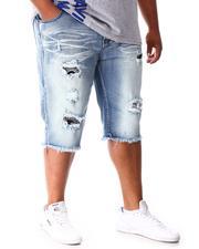 Shorts - Rip & Repair Distressed Denim Shorts (B&T)-2641019