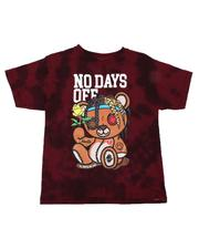 Arcade Styles - No Days Off Tie Dye Tee (8-20)-2637905