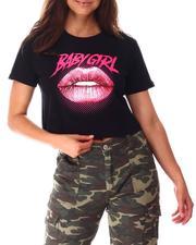 Tops - Baby Girl Lip Crop Tee-2639338