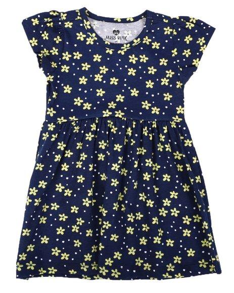 La Galleria - Floral Print Cap Sleeve Dress (2T-4T)
