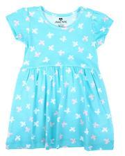 La Galleria - Butterfly Print Cap Sleeve Dress (2T-4T)-2638881