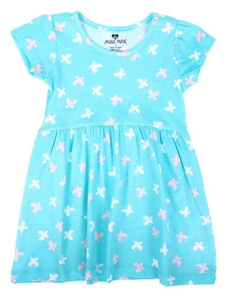 La Galleria - Butterfly Print Cap Sleeve Dress (2T-4T)