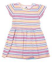 Sizes 7-20 - Big Kids - Striped Cap Sleeve Dress (7-16)-2638895
