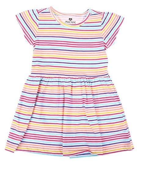 La Galleria - Striped Cap Sleeve Dress (7-16)