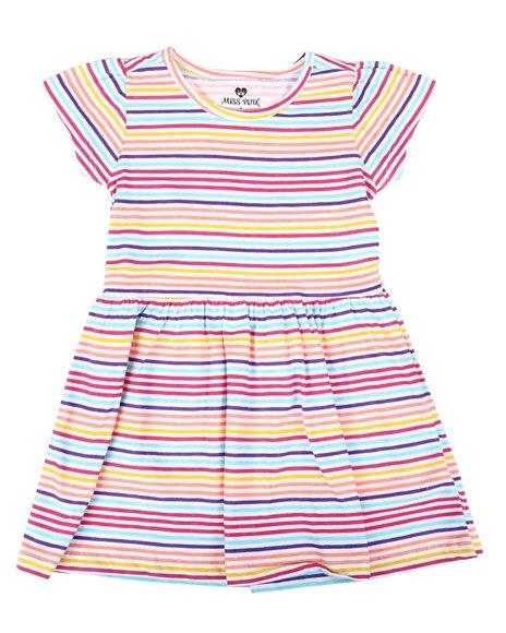La Galleria - Striped Cap Sleeve Dress (4-6X)
