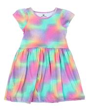 Sizes 7-20 - Big Kids - Tie Dye Cap Sleeve Dress (7-16)-2638929
