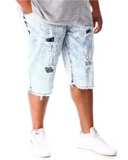 Shorts - Rip & Repair Distressed Denim Shorts (B&T)-2641025