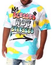 Shirts - Blessed Not Stressed T-Shirt (B&T)-2639764