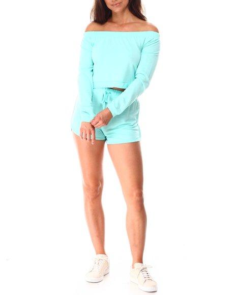 Fashion Lab - Crop Top W/ Dolphin Shortie